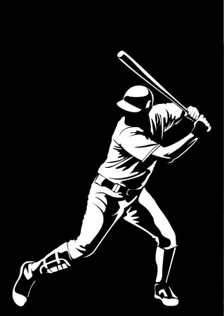 野球選手のベクトル 写真素材