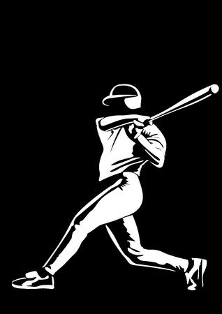 baseball player vector photo