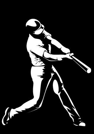 jugador de béisbol de vectores Foto de archivo