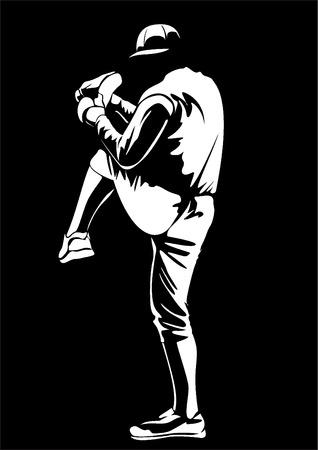Jugador de béisbol de vectores Foto de archivo - 27486706