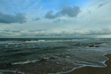 ocean and sea: sea, sky, shore, beach, aqua, clouds, snow, winter, nature, landscape, wave, Baltika