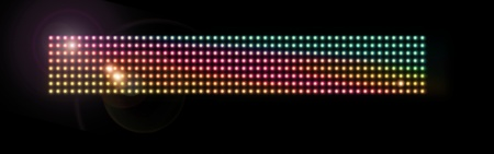 led light: Colorful Mesh of Seamless Glowing LED Lights