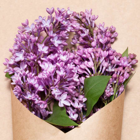 a bouquet of lilac flowers