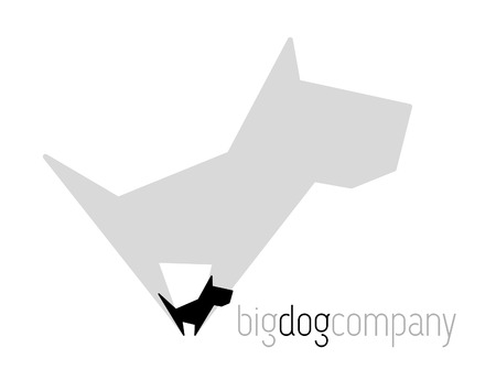 whelps: Original vector dog with shadow for various activities Illustration