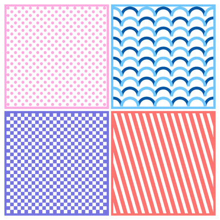 Vector seamless geometric pattern in retro style Vector