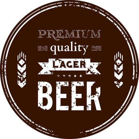 大麦の穂とビール oaster のベクトルのデザイン  イラスト・ベクター素材