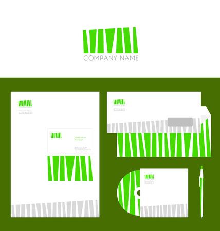 Design of corporate identity templates. Vector illustration. Vector