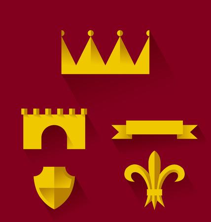 knighthood: Design of heraldic symbols and elements Illustration