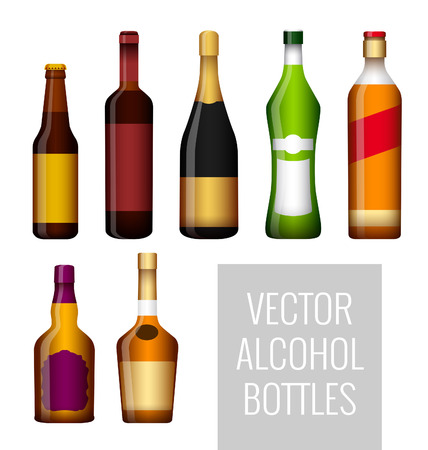 liqueur labels: Vector bottles of alcohol for your design