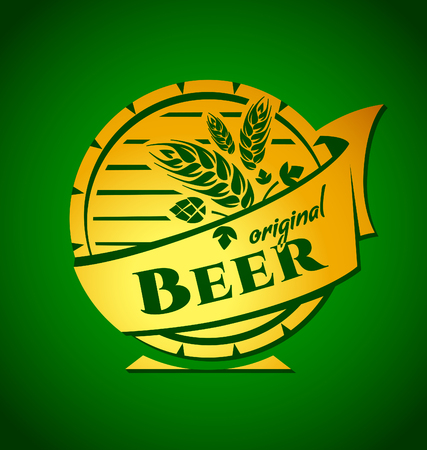 yeast: Vector template beer emblem for your design