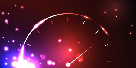 明るい背景で抽象的なスピード メーター。ベクトルの図。