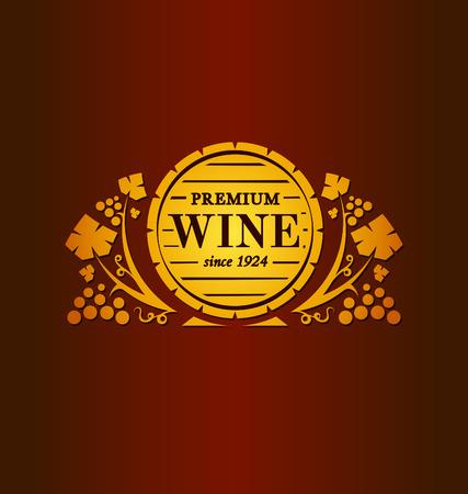 あなたの設計のためのワインのベクトル紋章  イラスト・ベクター素材
