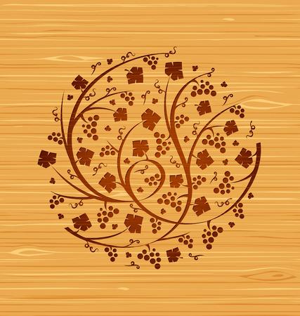 木製レイアウトにベリーの花飾り。