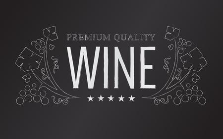 あなたの設計のためのベクトルエンブレム チョーク ワイン