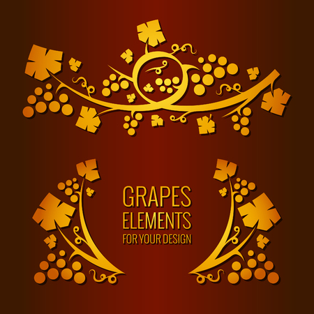 bunches: Vector grapes elements for your design.