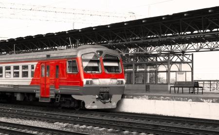 railway points: intercity train