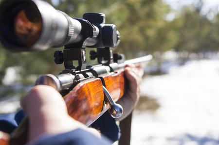 winter hunting 스톡 콘텐츠