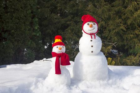 two snowmen Standard-Bild