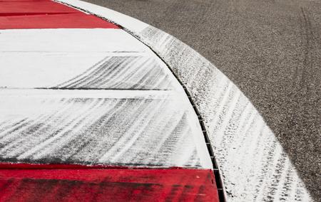 tyres mark on the racetrack Standard-Bild