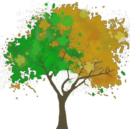 Illustation of tree Vector Illustration