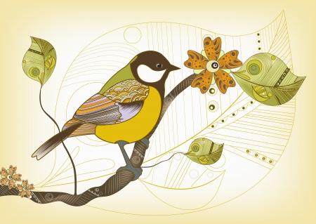 titmouse: Vector illustration of titmouse
