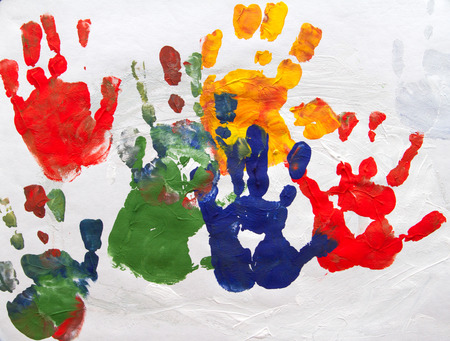 The picture painted by the hands of a child