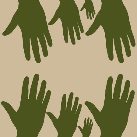 hand to hand Illustration
