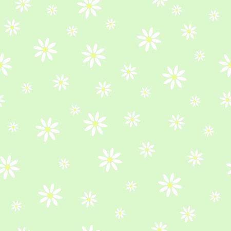 chamomile: Seamless flower pattern chamomile