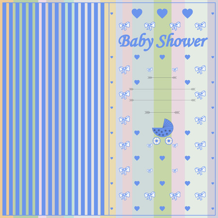 Baby shower background with some special objects Vector