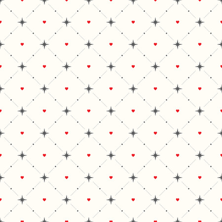 nuance: Seamless geometric pattern. Hearts. vector repeating texture Illustration