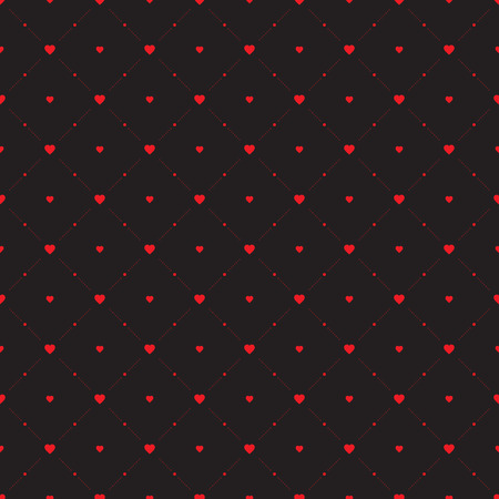 Seamless geometric pattern. Hearts. vector repeating texture Vector