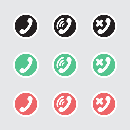 friend nobody: Set of vector icons telephony and communications.