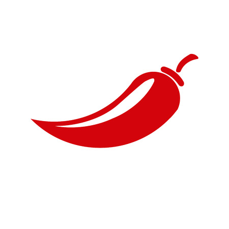Icon Chili pepper isolated on white background. Vector illustration. Ilustração