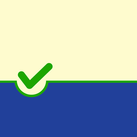 Voting symbol on yellow green background. Vector illustration Vector