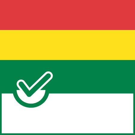 bandera de bolivia: S�mbolo de Votaci�n de Bolivia fondo de la bandera. Ilustraci�n vectorial