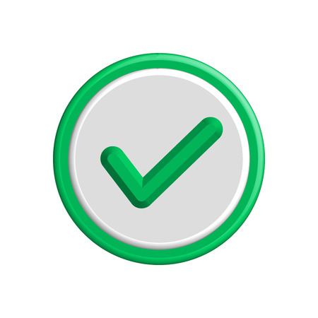 confirmation: Vector Flat Design Check Marks Icons. Different Variations of Ticks and Crosses Represents Confirmation, Right and Wrong Choices, Task Completion, Voting.