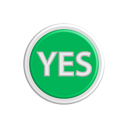 yes or no: Buttons yes and no colorful 3d buttons. Vector illustration.