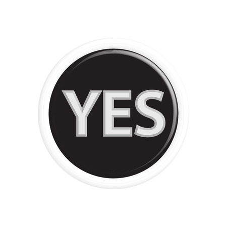 yes no: Button yes, no colorful 3d buttons. Vector illustration. Illustration