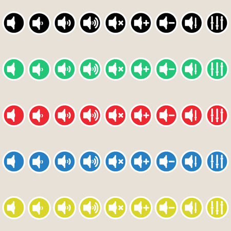 lit collection: Vector set speaker  icon. Volume and sound.