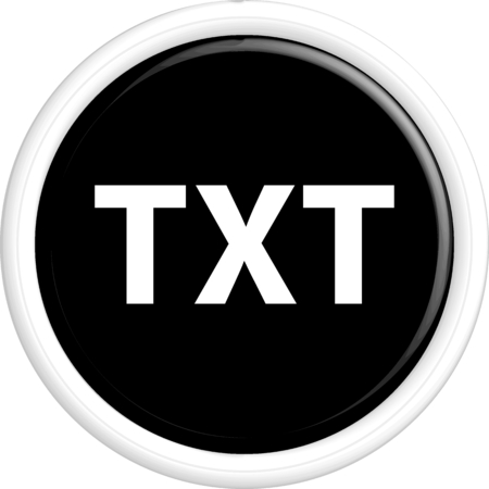 txt: Button TXT. The round shape. 3D. Vector illustration. Vettoriali