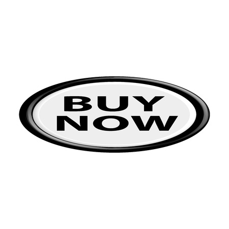 oval shape: The Buy it now button.An oval shape. 3D. Illustration