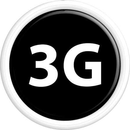 gprs: Button 3G . The round shape. 3D. Vector illustration. Illustration