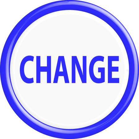 better icon: Button change. The round shape. 3D. Vector illustration.