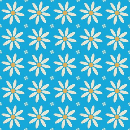 Seamless flower pattern chamomile. Modern stylish texture. Repeating geometric shapes. Contemporary graphic design.