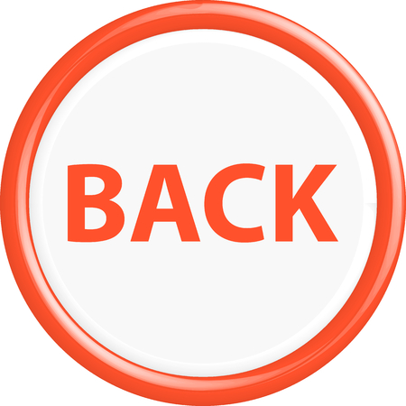moving site: Button back . The round shape. 3D. Vector illustration. Illustration