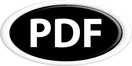 bibliography: Button PDF. The round shape. 3D. Vector illustration. Illustration