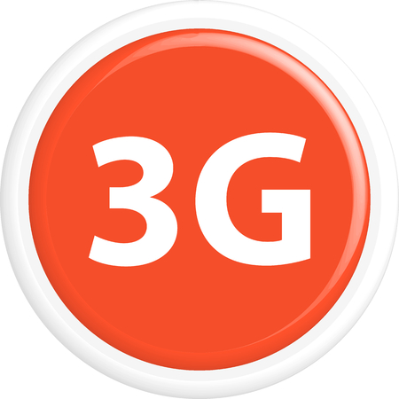 3g: Button 3G . The round shape. 3D. Vector illustration. Illustration