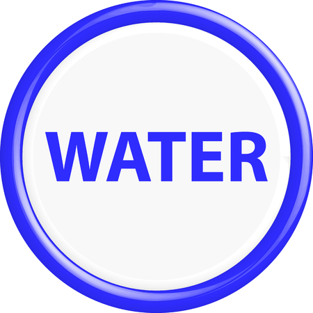 drinkable: Button water. The round shape. 3D. Vector illustration.