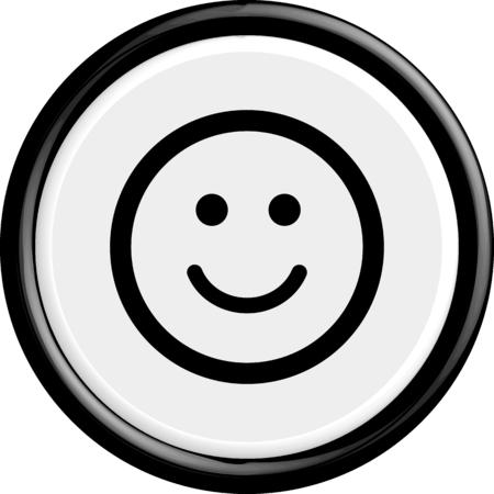 cara feliz: Bot�n sonrisa. La forma redonda. 3D. Ilustraci�n del vector. Vectores