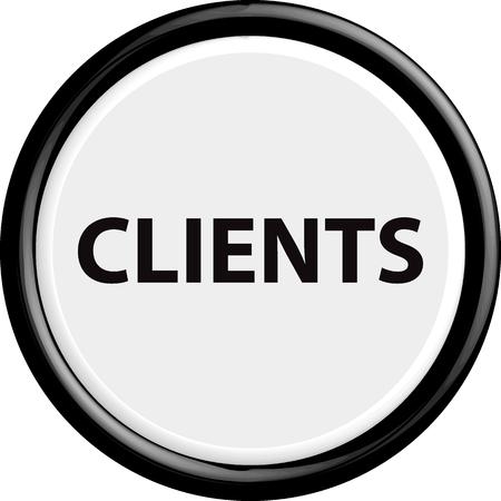 Button clients . The round shape. 3D. Vector illustration.